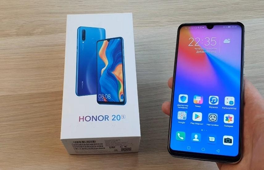Дизайн смартфона Honor 20s