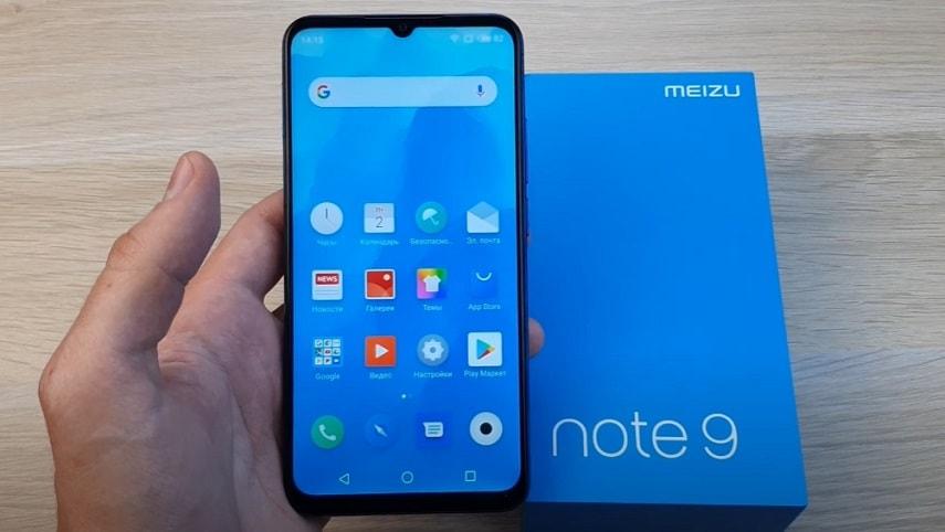 Дизайн смартфона Meizu Note 9