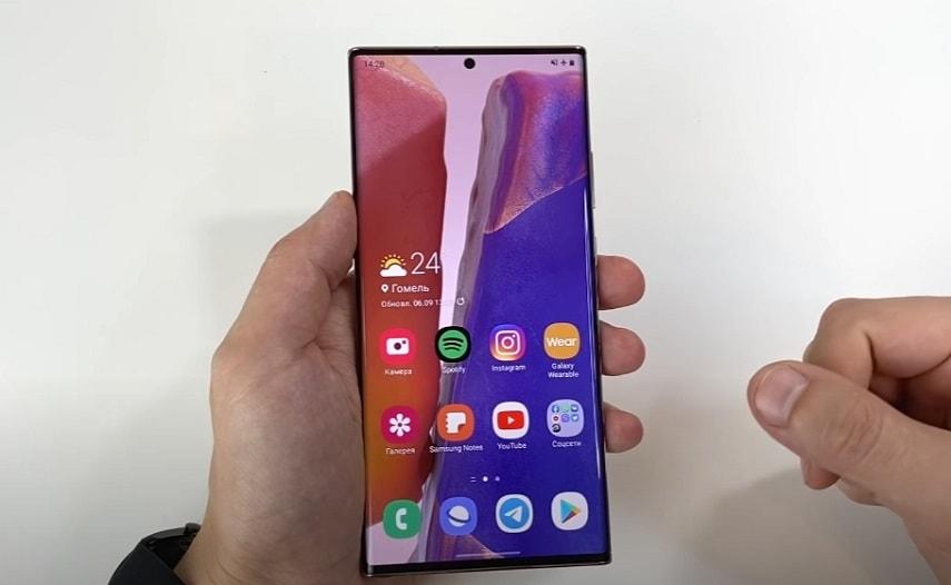 Экран смартфона Samsung Galaxy Note 20 Ultra