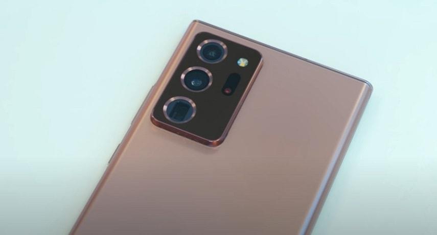 Дизайн смартфона Samsung Galaxy Note 20 Ultra
