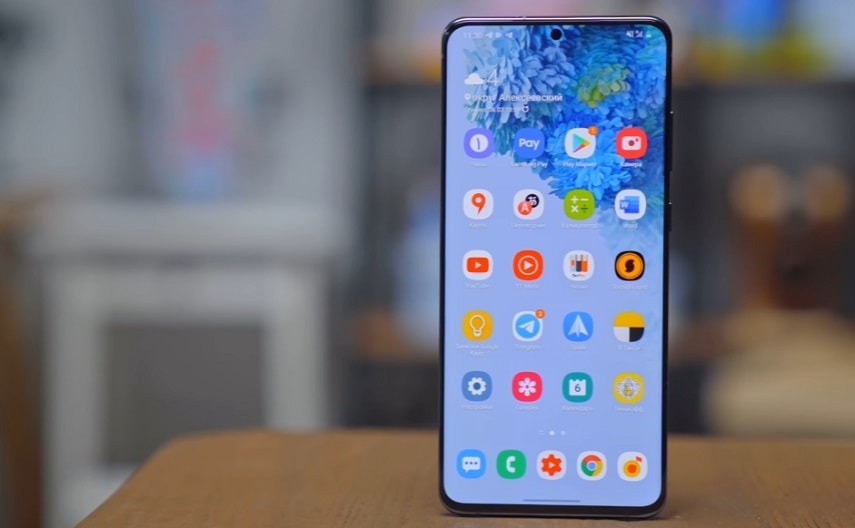 Экран смартфона Samsung Galaxy S20 Ultra
