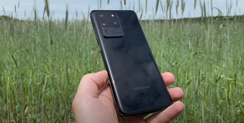Дизайн смартфона Samsung Galaxy S20 Ultra