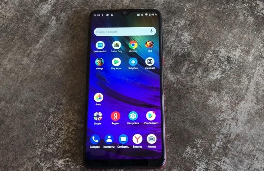 Экран смартфона ZTE Blade 20 Smart